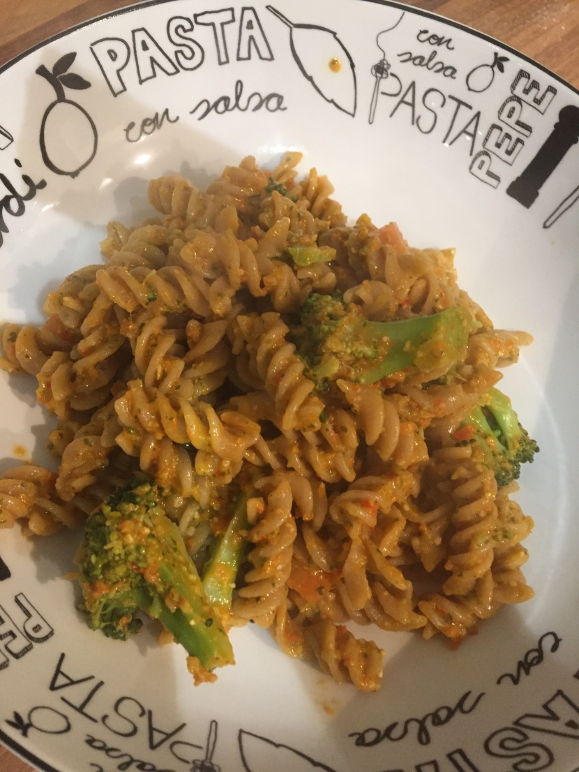 Homemade Red Pesto with Wholewheat Pasta