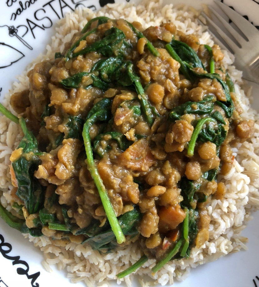 Spinach Chana Dal