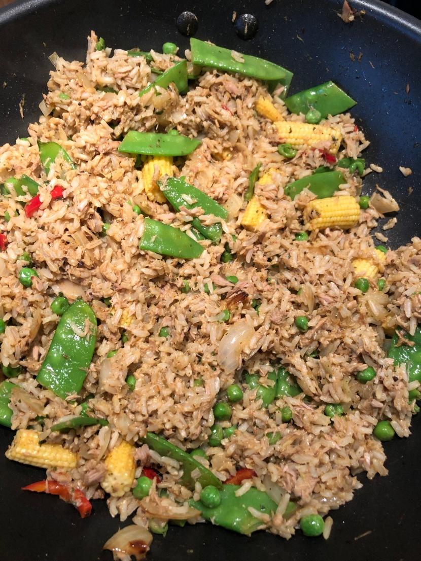 Jerk Tuna with Rice andPeas