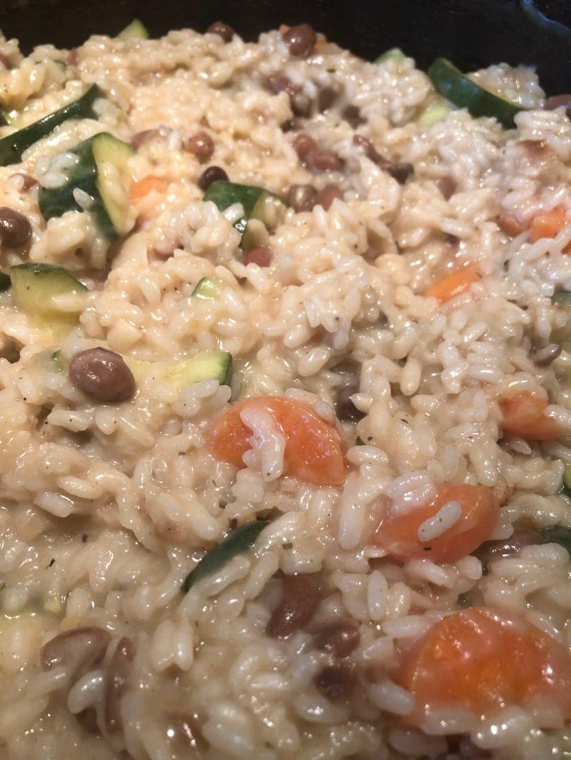 Cheesy, Veg and Bean Risotto